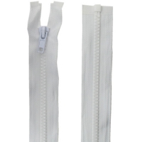 Fermeture injecté 75cm Blanc