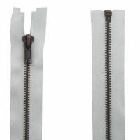 Fermeture Métal Bronze 45cm Blanc