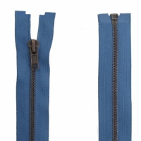 Fermeture Métal Bronze 55cm Bleu Jeans