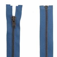 Fermeture Métal Bronze 70cm Bleu Jeans
