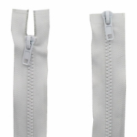 Fermeture  double curseur 60cm Blanc