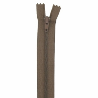 Fermeture pantalon 15cm Marron