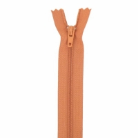 Fermeture pantalon 18cm Marron Brique
