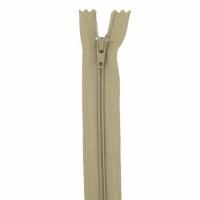 Fermeture pantalon 20cm Brun Clair