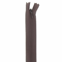 Fermeture invisible 40cm Marron