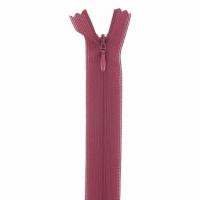 Fermeture invisible 60cm Bordeaux