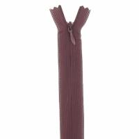 Fermeture invisible 60cm Bordeaux Foncé