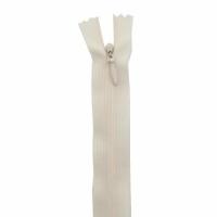 Fermeture invisible 60cm Blanc Cassé