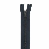 Fermeture pantalon métal 10cm Bleu Marine