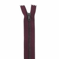Fermeture pantalon métal 12cm Bordeaux