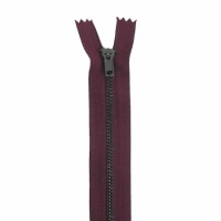 Fermeture pantalon métal 15cm Bordeaux
