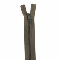Fermeture pantalon métal 20cm Kaki