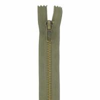 Fermeture jeans 15cm Kaki