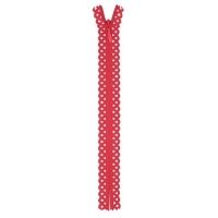 Fermeture dentelle invisible 40cm Rouge