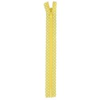 Fermeture dentelle invisible 40cm Jaune