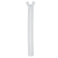 Fermeture dentelle invisible 40cm Blanc