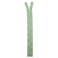 Fermeture nylon à petit pois Vert Pomme 20cm