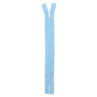 Fermeture nylon à petit pois Bleu Ciel 40cm