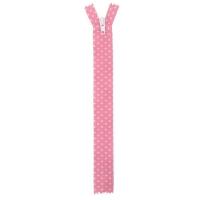 Fermeture nylon à petit pois Rose 40cm
