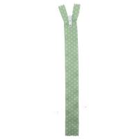 Fermeture nylon à petit pois Vert Pomme 40cm