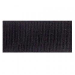 Élastique côtelé 25 mm noir