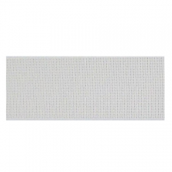 Élastique côtelé 20 mm blanc