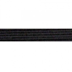 Élastique souple 16 gommes noir