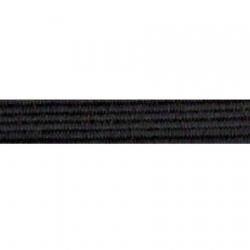 Élastique souple 8 gommes noir