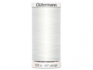 Fil à coudre Gütermann 500m col : 800 blanc