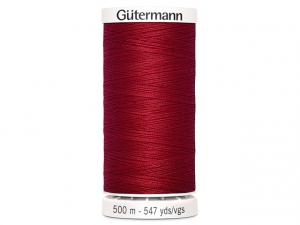 Fil à coudre Gütermann 500m col : 046 rouge foncé
