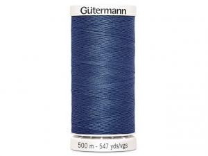 Fil à coudre Gütermann 500m col : 068 bleu grisé