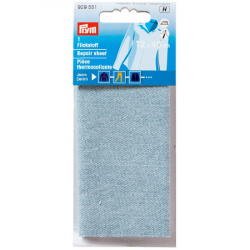 Thermocollant percale Jeans Bleu Clair