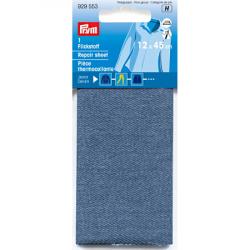 Thermocollant percale Jeans Bleu Moyen