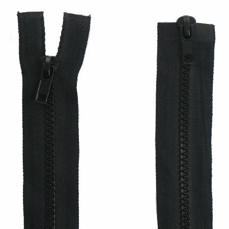 Fermeture  double curseur 75cm Noir