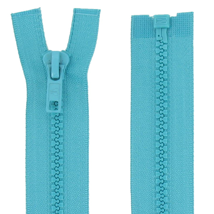 Lot de 2 Fermetures Invisibles 18 cms Turquoise Maille 3 mm