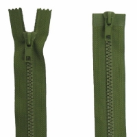 Fermeture  double curseur 70cm Vert armée
