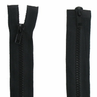 Fermeture  double curseur 70cm Noir