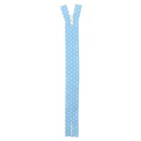 Fermeture nylon à petit pois Bleu Ciel 20cm