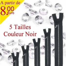 Fermeture strass non séparable N°4<br />
