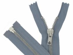 Fermeture Métal Argent 65cm gris moyen