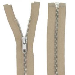 Fermeture Métal Argent 65cm beige