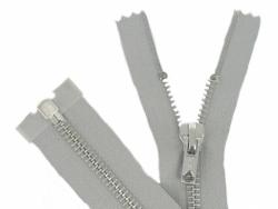 Fermeture Métal Argent 70cm gris clair