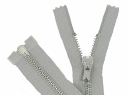 Fermeture Métal Argent 75 cm gris clair