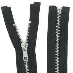 Fermeture Métal Argent 45cm Noir